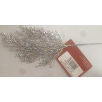 Enfeite De Natal Pick Gliter Twig Silver M11-32si - 5 Pçs7