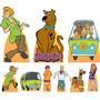 Kit Festa Infantil Totem Completo Mdf 3mm 9 Peças Scooby Doo