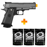 Pistola Airsoft Spring G10 Full Metal Galaxy+6000 Bbs 0.12g
