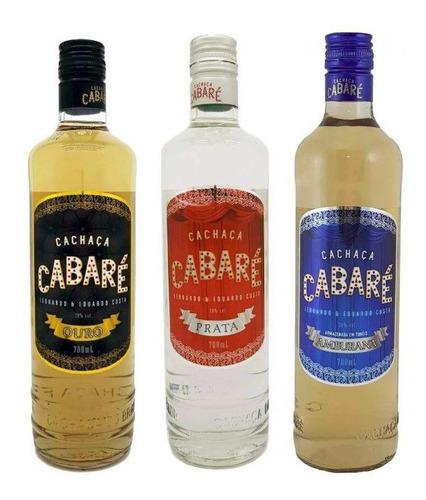 Kit Cachaças Cabaré - 700ml (pega Fogo Cabaré)