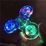 Hand Spinner Anti Ansiedade Stress Transparente Led Fidget