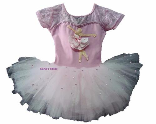 b48f0685dd Kit Roupa Bailarina Infantil Tutu Vestido Criança Festa R 359.9 ...