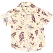 Camisa Pássaros -tyrol
