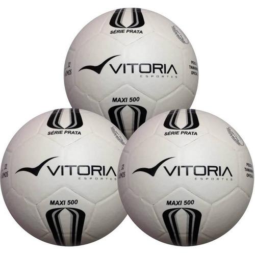 3 Bolas Futsal Vitória Oficial Maxi 200 Infantil Sub 13 1e6186bcbc0b9