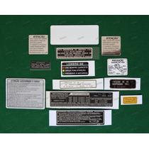 Adesivos Advertência Honda Cbx 750 89 Grená Originais 7galo