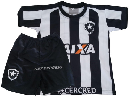 Conjunto Infantil Do Botafogo Uniforme Camisa + Shorts Kit. Preço  R  34 9  Veja MercadoLibre b7a129a388c3f