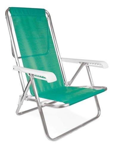 Cadeira Praia Piscina Reclinável Alumínio Mor 8 Posições