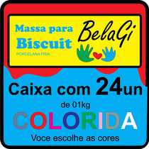 24 Kg Massa De Biscuit Colorida - Belagi