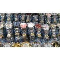 Kit/lote 10 Relógio Pulso Masculino Prata Clássico Atacado