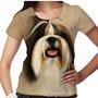 Camiseta Cachorro Shih-tzu Forelock Feminina