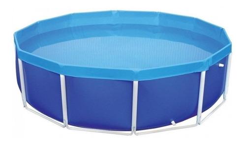 Piscina Estrutural Azul Mor 001007 De 4500 Litros Redonda 2.78m De Diâmetro