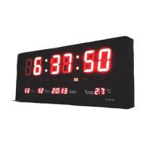 Relógio Parede Digital Painel Led Calendário Termômetro