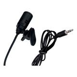 Microfone De Lapela Fio Trançado Original + Adaptador P2 P3
