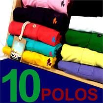 Kit 10 Camisas Polos Masculinas Qualidade Importada Original