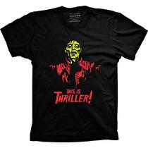 Camiseta Michael Jackson Thriller Algodão Cantor