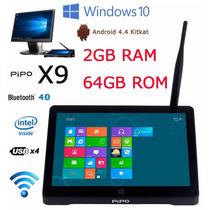 Mini Pc Pipo X9 Windows 10 Android 4.4 2gb + 64gb No Brasil