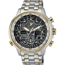 Relógio Citizen Navihawk A-t Jy8034-58e Calendario Perpetuo