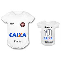 Body Bebê Atlético Paranaense Time Futebol Infantil Bori