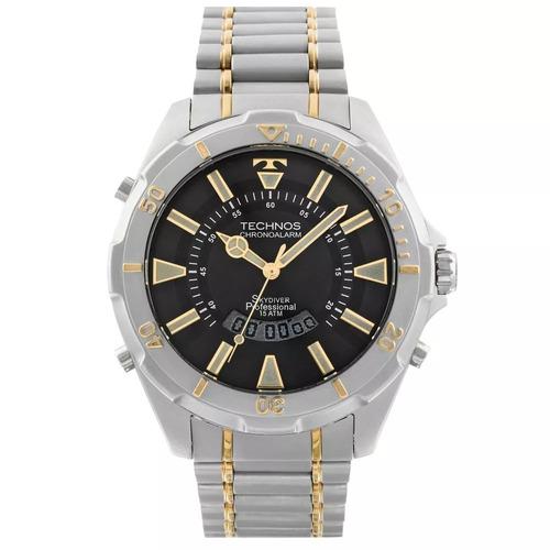 761541996be Relógio Technos Skydiver 30 Anos T205fq 5p Prata Grande 150m - R ...