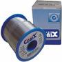 Kit Com 3 Solda Estanho 1mm 60x40 Cobix Fluxo Ra - Rolo 500g