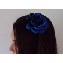Rosa Azul De Cetim Para O Cabelo Aniversário Tema Frozen