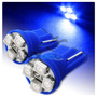 Par Pingo T10 4 Leds Azul - Super Oferta - Valor Do Par