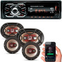 Kit Som Carro Radio Mp3 Bluetooth Usb + Auto Falante 6 + 6x9 Original