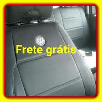 Jogo Capas De Couro Courvim /sintetico Para Polo Sedan/hatch