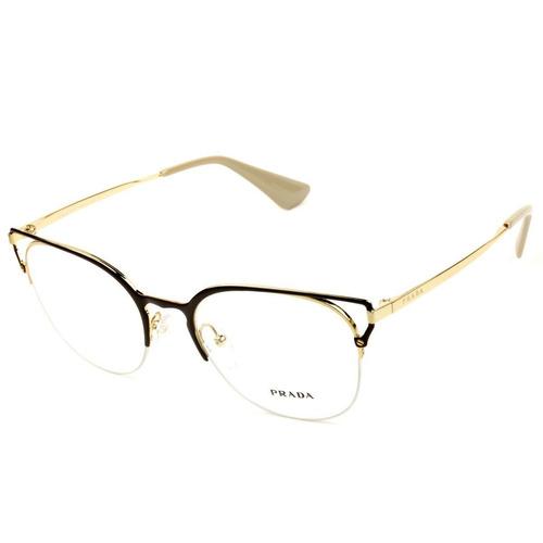 756fca3bf Armação Óculos De Grau Feminino Prada Vpr64u 98r-101