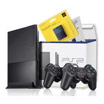 Playstation 2 Destravado 2 Controles Novo Com Nota Fiscal