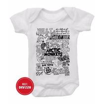Body Arctic Monkey Bebê Infantil Bandas Rock Guns Blink Acdc