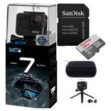 Câmera Gopro Hero 7 Black +cartão Ultra 64gb + Case + Tripé