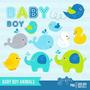 Kit Scrapbook Digital Animais Baby Imagens Clipart Cod12
