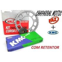 Relação Xt 660 R Coroa E Pinhão Vaz Corrente Kmc C/ Retentor