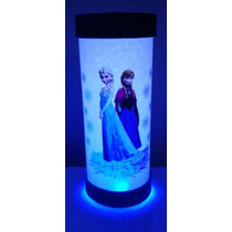 Luminária Abajur De Led Frozen Elsa E Anna Disney Infantil