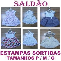 Saldao 30 Vestidos Infantil 5 Modelos Estampas Sortidas