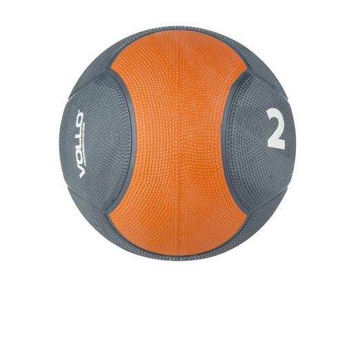 Medicine Ball De Borracha Vp1002 Vollo 2 Kg Cinza E Laranja
