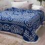 Colcha Chenille Jolitex Queen Com Franja 2 20x2 40m Azul