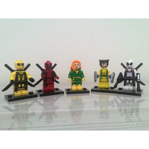 Lego Deadpool Wolverine Fênix Marvel X-men Super Heróis