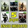Call Of Duty Combo - 5 Jogos Xbox 360 Mídia Digital