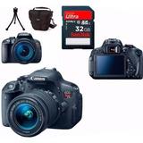 Câmera Canon Eos T5i 18-55 Stm+bolsa+tripé+32gb+recibo