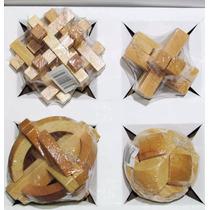 Quebra Cabeça Puzzle Madeira Com 04 Jogos Pronta Entrega