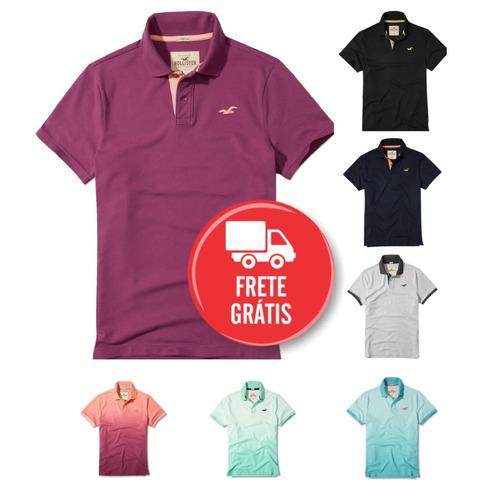 Camisa Polo Hollister Masculina Importada Original 2018 - R  145 en ... 23c3e9aaa7a70