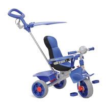 Triciclo Smart Com Haste Comfort Azul Brinquedo Bandeirante