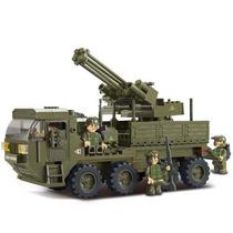 Brinquedo Caminhão Exército 306 Peça Montar Quebra Cabeça 3d