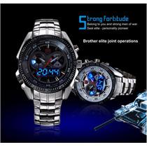 Relógio Tvg De Luxo Led Seal Elite
