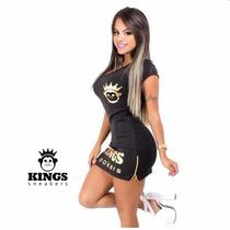 Vestido Kings Size Zipper Preto/dourado Kings Sneakers