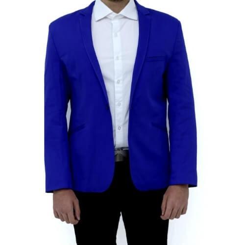 69b560a3a5749 Blazer Masculino Slim Fit Corte Italiano. R  239.99