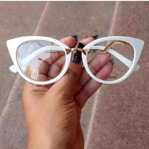 11057db041a22 Armação Óculos De Grau Olho De Gato Elegante Chique 2018 Top - R  79 ...