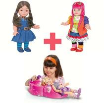 Bonecas Chiquititas Laura + Mili + Boneca Vaidosa